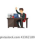 Content businessman character in office 43362189