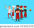 Professional chef teaching concept with cooks 43362250