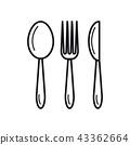 fork icon knife 43362664