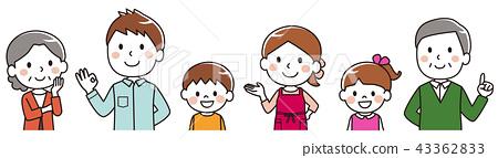 Three generations family smile 43362833