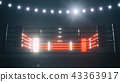 Boxing ring in dramatic lighting. 3D render 43363917