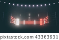 Boxing ring in dramatic lighting. 3D render 43363931