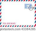 航空郵件例證背景(與郵票和郵戳)傳染媒介數據|三色顏色|航寄 43364285