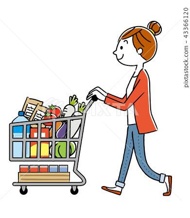 女性:購物,生活方式 43366120