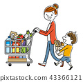 Parent and child: Supermarket, shopping, lifestyle 43366121