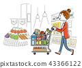 女性:超市,購物,生活方式 43366122
