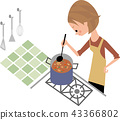 요리를하는 여자 43366802