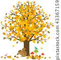 가을 다람쥐 동물들 43367159