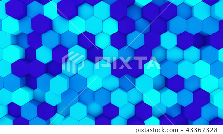 Digital data. Hexagon shape in structure of architecture technol 43367328