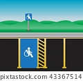 Disable parking Area and Lanscape Vector 43367514