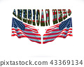 american hero phrase with two usa flags. 43369134
