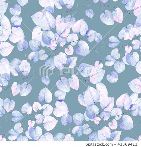優雅的無縫五顏六色的葉子 43369413