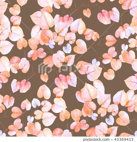 優雅的無縫五顏六色的葉子 43369415
