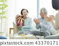 senior, present, husband and wife 43370171