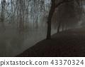 Long walk path on the riverside in Ljubljana 43370324