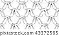 熊 无缝的 样式 43372595