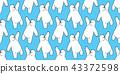 熊 无缝的 样式 43372598
