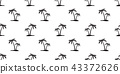 Coconut tree Seamless Pattern vector island palm 43372626