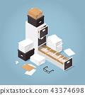 isometric, concept, folder 43374698