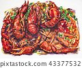 crawfish, crayfish, lobster 43377532