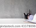 Mockup computer laptop of engineer workspace. 43378096