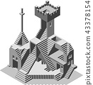 Ruins Vector 43378154