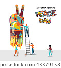 World Peace Day people teamwork concept 43379158