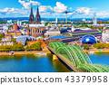 Aerial panorama of Cologne or Koln, Germany 43379958