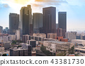 Aerial Los Angeles downtown 43381730