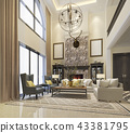 luxury and modern classic living room european  43381795