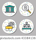 round, law, icon 43384136