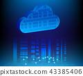 Cloud computing data storage technology concept 43385406