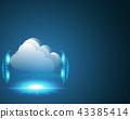 Cloud computing data storage technology concept 43385414