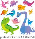 ไดโนเสาร์,พื้นหลังสีขาว,ไทรันโนซอรัส 43387050