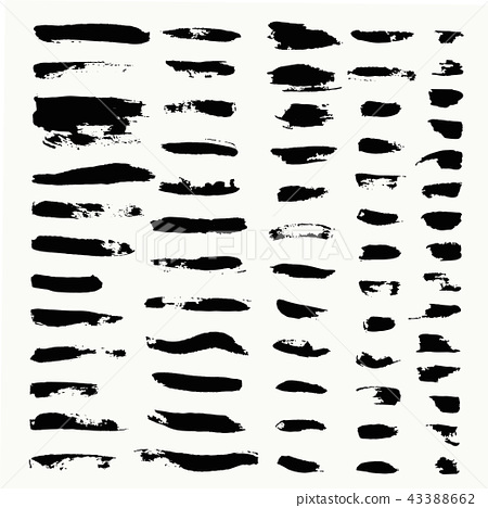 Set of hand drawn scribbles vector. 43388662