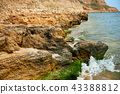 coastline, beautiful landscape near the sea 43388812