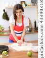 cooking, woman, kitchen 43390318