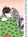 浮世繪 美人畫 漂亮人物圖片 43394674