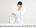 购物女性 43395678