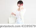 购物女性 43395679