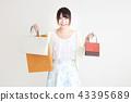 购物女性 43395689