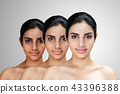 Young Asian attractive woman with skin brightening 43396388