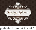 decorative frame in vintage style 43397075