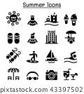 Summer icon set 43397502