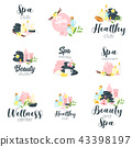 logo, beauty, label 43398197