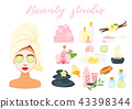 set of wellness icons 43398344