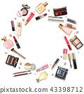 Vector Round Makeup Cosmetics Concept 43398712