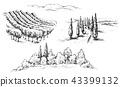 Rural Scene Fragments Sketch 43399132