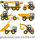 Vector Yellow Construction Machinery Set 2 43399144