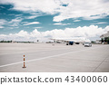 Passanger airplane on aircraft parking, nobody 43400060